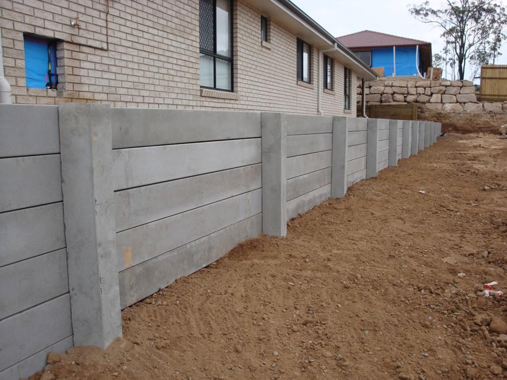 Australian Retaining Walls Concrete Sleeper Retaining Wall Augustine Heights Ipswich Australian Retaining Walls