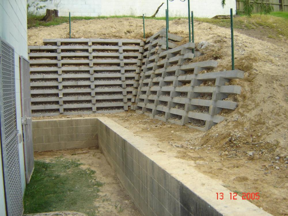 Australian Retaining Walls Concrete Crib Retaining Wall