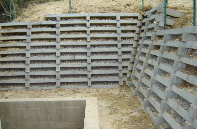 Concrete Crib Retaining Walls