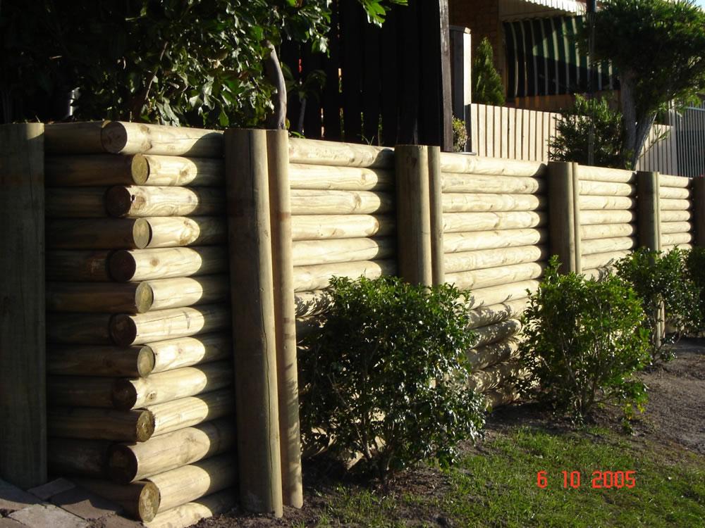 Australian Retaining Walls C C A H5 Treated Pine Log