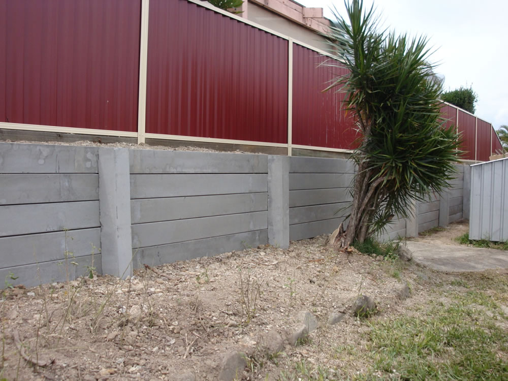 Concrete Sleepers Gold Coast Timber Retaining Walls Gold