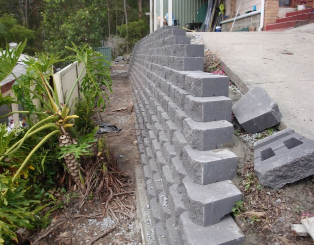 Australian Retaining Walls Diamond Concrete Block