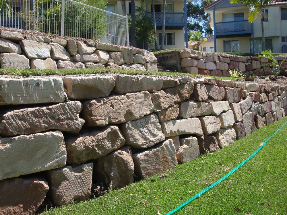 Sandstone Boulder Retaining Walls