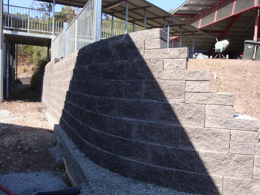 Australian Retaining Walls Vertica Concrete Block