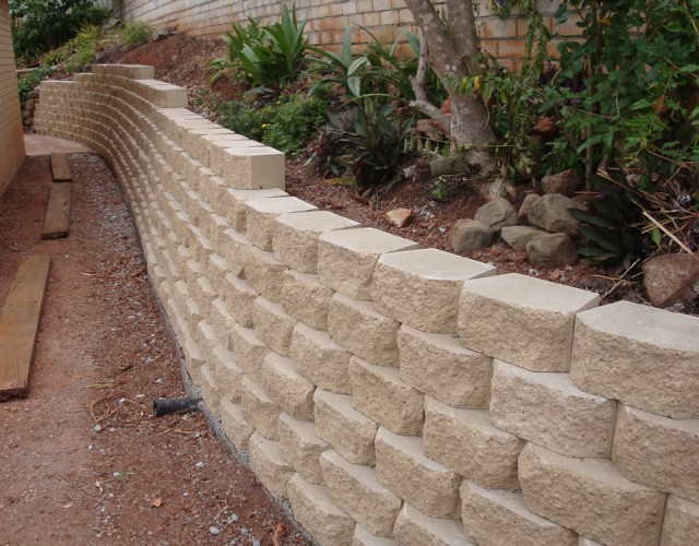 Concrete Blocks Retaining Wall 8 Cinder