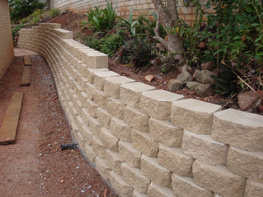 Retaining wall blocks keystone garden wall block full Cinder block retaining wall
