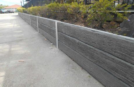 Concrete Sleeper Walls - Merrimac Gold Coast - Australian Retaining Walls 1