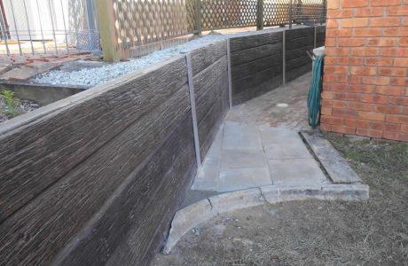 Concrete Sleeper Walls - Mudgeeraba Gold Coast - Australian Retaining Walls 1