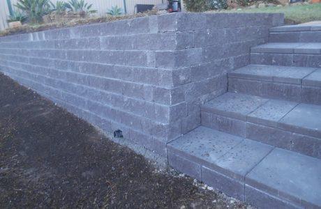Flush Face Garden Wall Concrete Blocks - Molendinar Gold Coast - Australian Retaining Walls 1