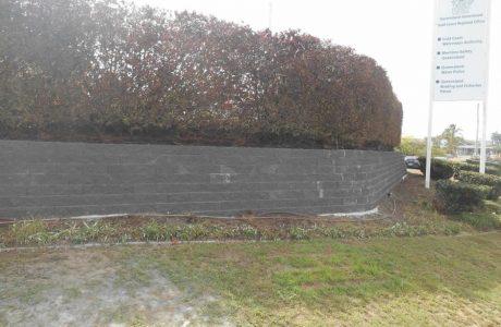 Flush Face Garden Wall Concrete Blocks - Queensland Transport - Australian Retaining Walls
